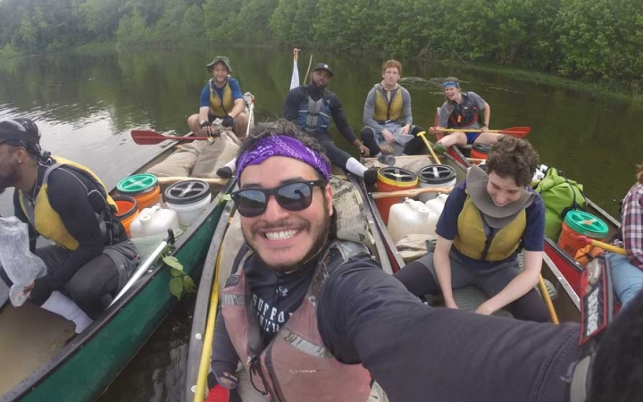 canoeing outdoor adventure program for adults