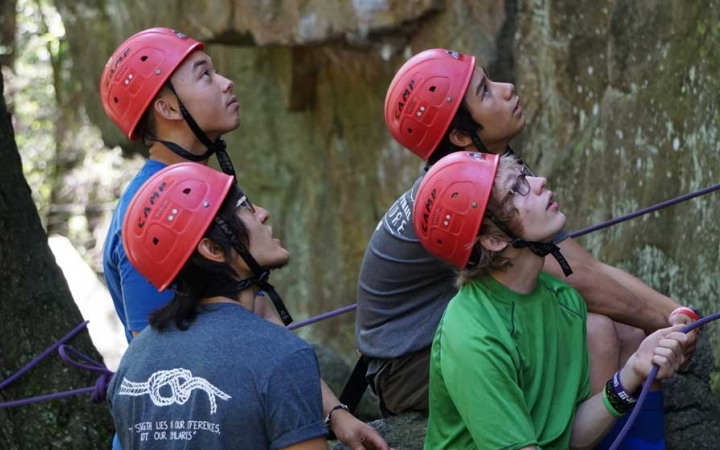 rock climbing trip for adults