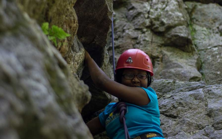 rock climbing outdoor leadership course in DC