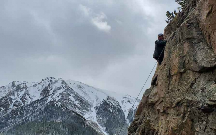 adults only rock climbing course in colorado