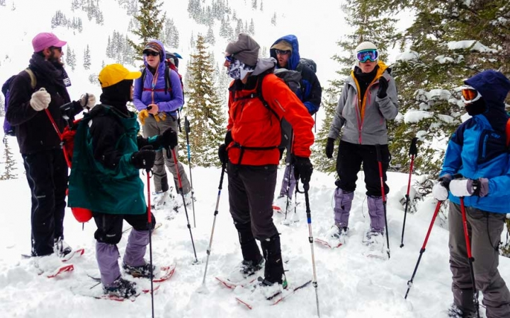 gap year snowshoeing program in colorado