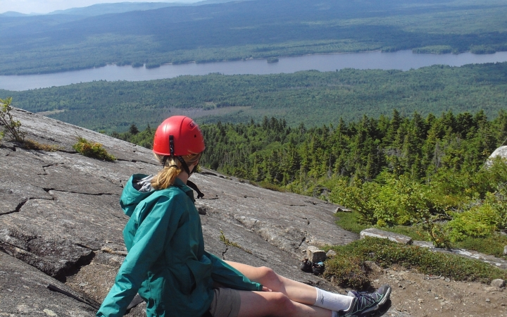 backpacking on wilderness program in maine