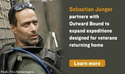 Sebastian Junger leads wilderness programs for veterans